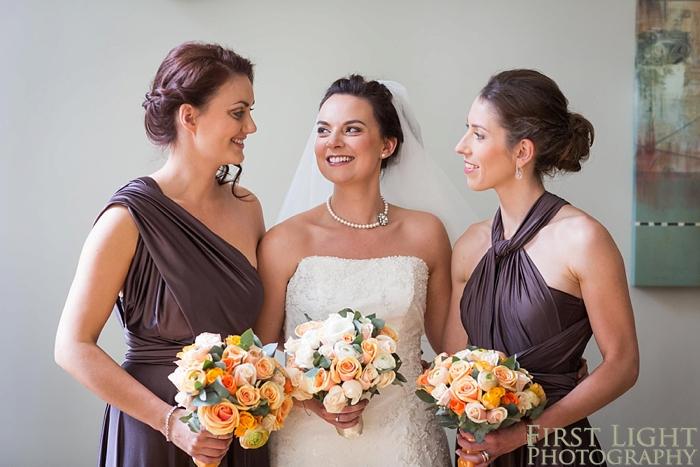 portrait of bride and bridesmaids