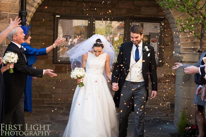 Confetti at Wedding at St Peters Catholic Church Edinburgh
