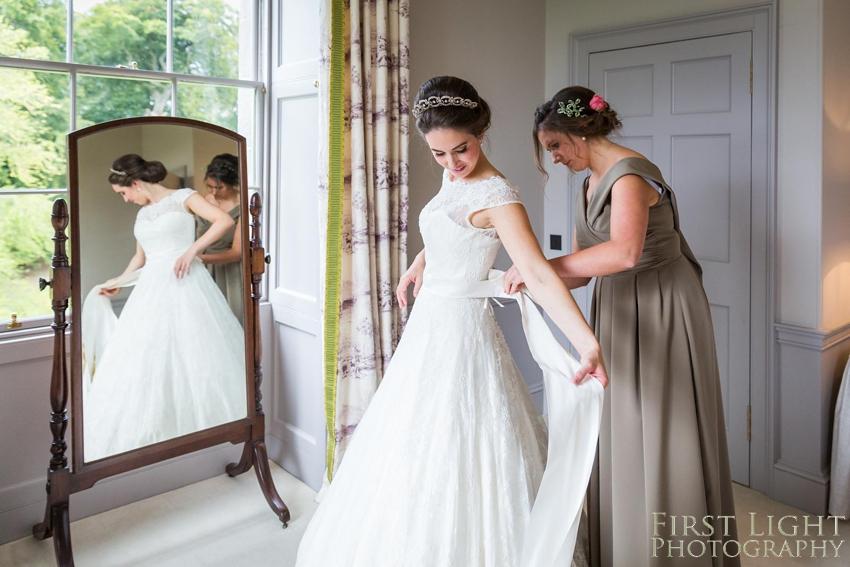 Wedding dress, wedding details, wedding hair, bridesmaid