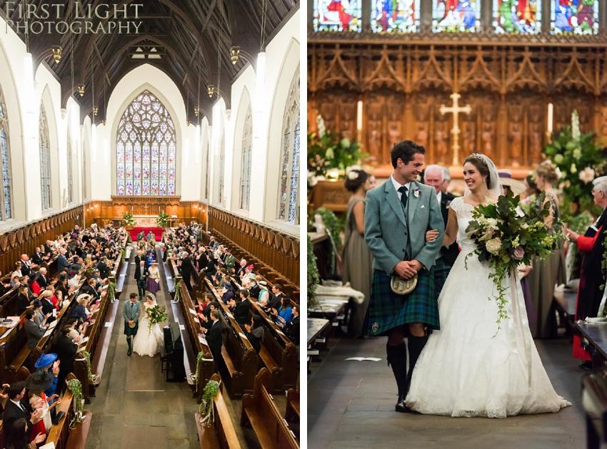 Wedding church, wedding dress, wedding flowers
