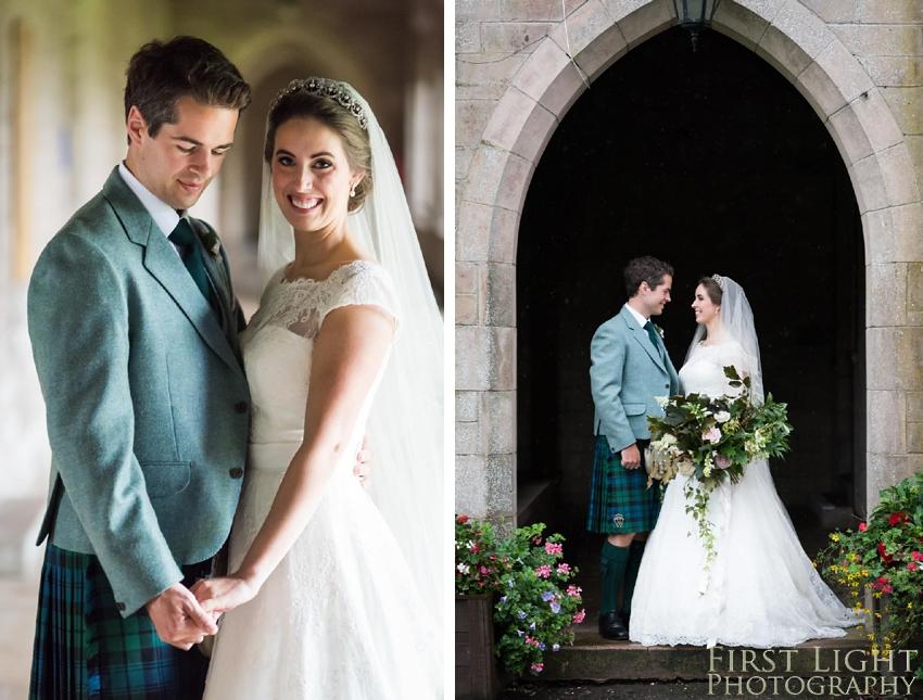 Wedding couple, wedding dress, wedding flowers
