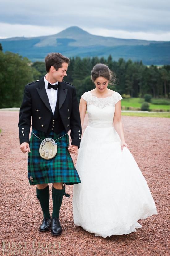 Wedding couple, wedding dress