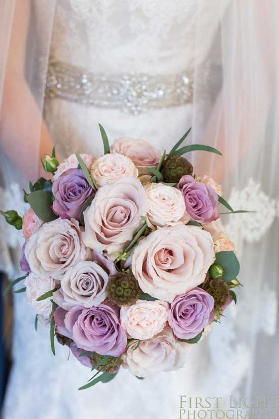 Wedding details, wedding flowers, wedding roses, Gilmerton House, Wedding Photographer, Edinburgh Wedding Photographer, Edinburgh, Scotland, Copyright: First Light Photography