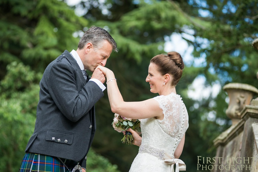 Wedding dress, wedding details, Gilmerton House, Wedding Photographer, Edinburgh Wedding Photographer, Edinburgh, Scotland, Copyright: First Light Photography
