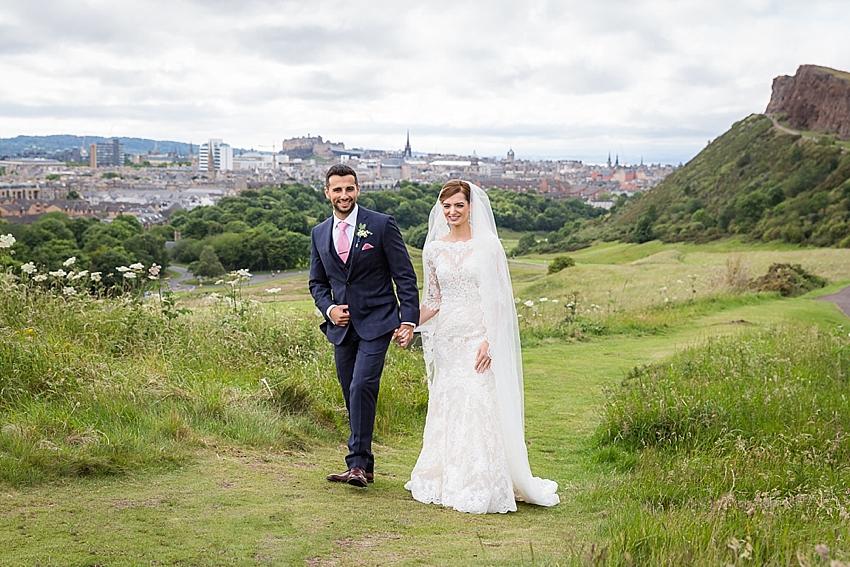 Arthurs Seat Wedding, Edinburgh, Edinburgh Wedding Photographer, Scotland. Copyright: First Light Photography