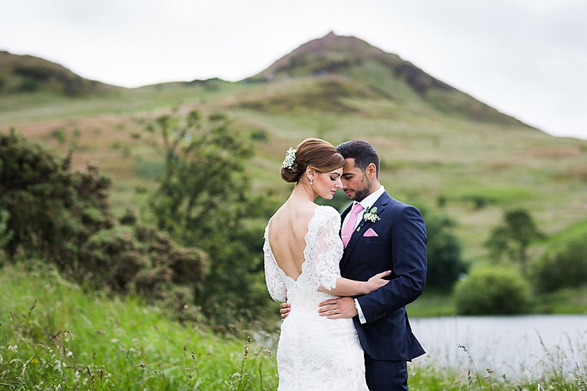 Arthurs Seat wedding photography Signet Library Wedding, Edinburgh, Edinburgh Wedding Photographer, Scotland. Copyright: First Light Photography